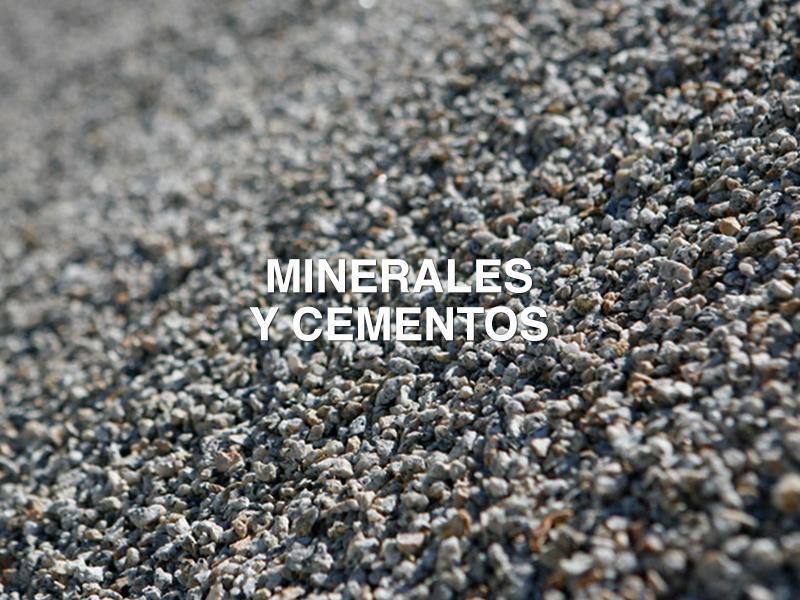 minerales y cementos