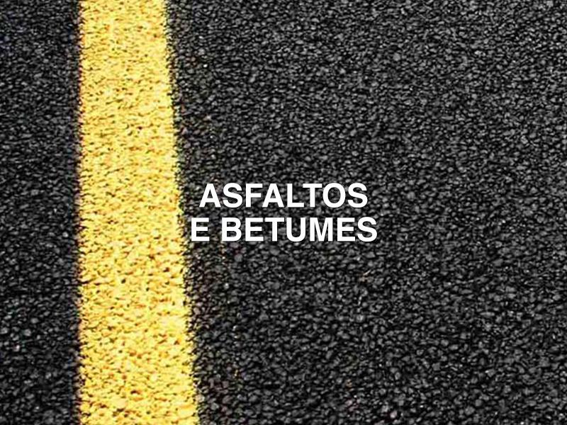 asfaltos e betumes
